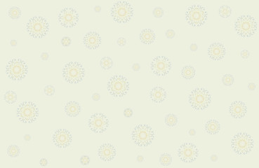 Christmas vector with snowflakes in gentle tones