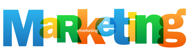 MARKETING Overlapping Vector Letters Icon