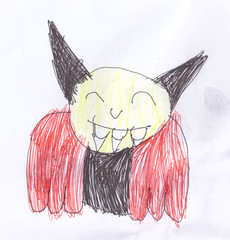 Child's drawing of a vampire
