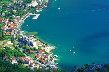 Top view of the seacoast. Montenegro.