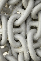 A whole page of heavy duty metal boat chain background texture