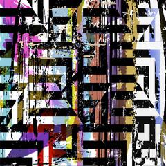 abstract geometric background pattern, retro/vintage style, grun