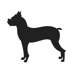 Boxer dog vector Black Silhouette
