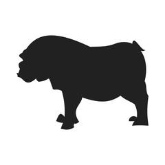 Bulldog black silhouette