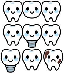 歯の治療の可愛いキャラクター