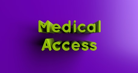 Medical Access - 3D rendered colorful headline illustration.  Can be used for an online banner ad or a print postcard.