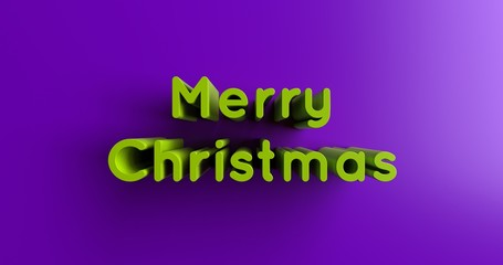 Merry Christmas Lights - 3D rendered colorful headline illustration.  Can be used for an online banner ad or a print postcard.