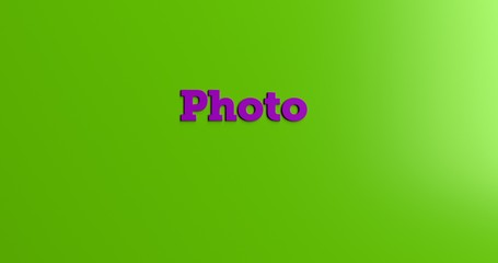 Photo - 3D rendered colorful headline illustration.  Can be used for an online banner ad or a print postcard.