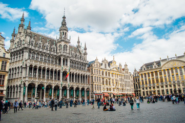 Fotorolgordijn Brussel Grand Place in Brussels, Belgium