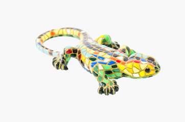 Decorative lizard made with ceramic