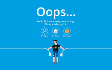 Oops error page Wall mural