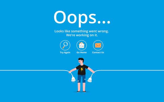 Oops error page