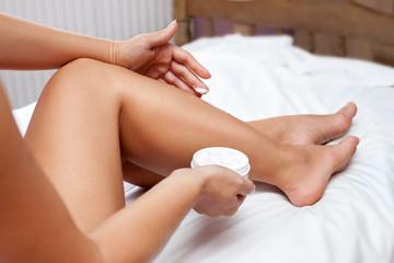 Moisturize your skin legs