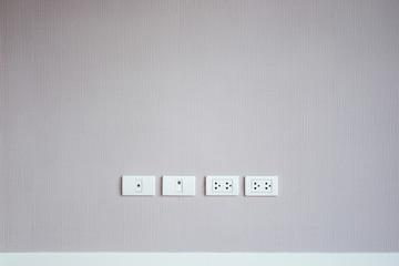 Modern wall and plug socket background.