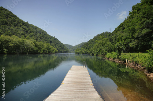 Boat dock fishing and swimming dock fontana lake north for Nc hunting and fishing license prices