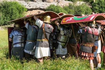 Formazione a testuggine di legionari romani