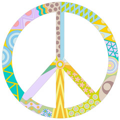 pacifik peace symbol isolated on white background