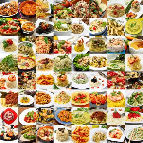 Collage di differenti primi piatti della cucina italiana for Ricette di cucina italiana primi piatti