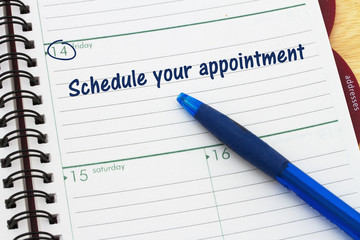 Reminder to schedule your appointment