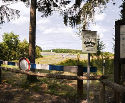 DDR Grenze vom Westen aus