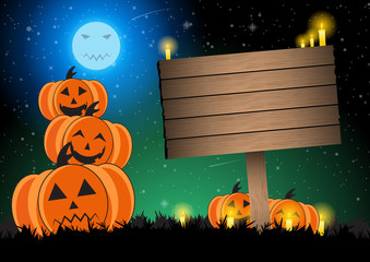 Halloween pumpkin background vector illustration