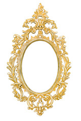 Oval vintage picture frame
