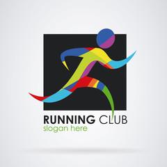 Logo running fitness sport