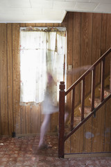 Ghost On The Stairs; Thunder Bay, Ontario, Canada