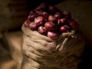 Sack Of Onions, Kerala, India