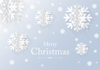 graphic Christmas card with snow flake. vector illustration
