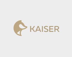 Abstract animal logo design template. Dog wolf fox pet vector logotype.