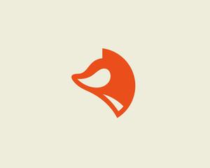 Fox vector logotype. Foxy logo design template