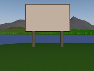 billboard on the nature, 3d.