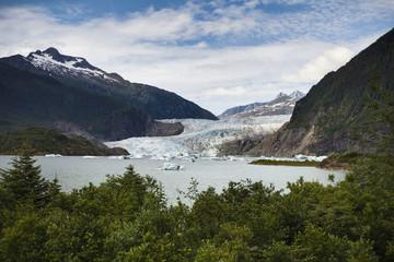 Mendenhall Glacier And Bay; Juneau, Alaska, United States of America