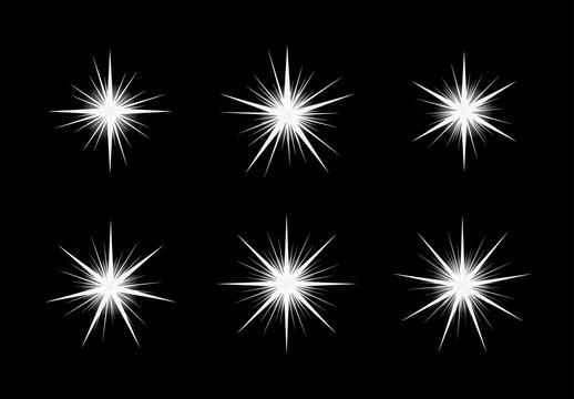 white shinning stars on black backgound
