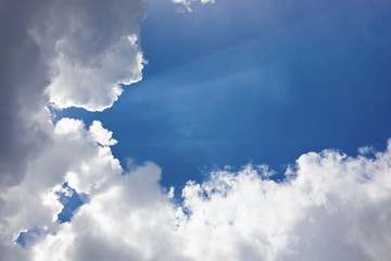 View of white clouds in blue sky