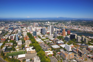 Aerial View Of Portland; Portland, Oregon, United States of America