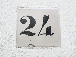 number 24 sign