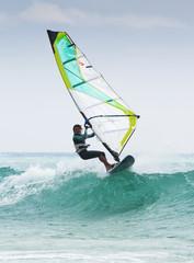 Windsurfing Off Punta Paloma; Tarifa, Cadiz, Andalusia, Spain