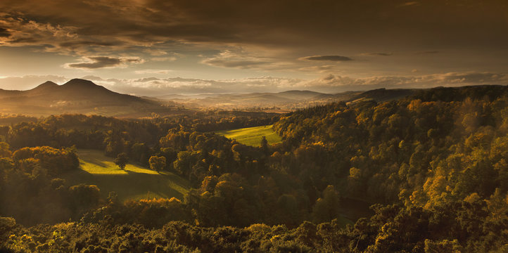 Scenic autumn landscape, Scots View, Scottish Borders, Scotland, UK