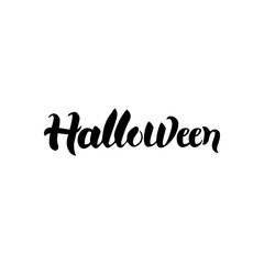 Halloween Black Calligraphy