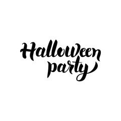 Halloween Party Handwritten Lettering