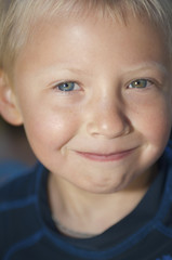 Portrait Of A Young Boy; Lake Tahoe, California, United States of America