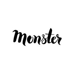 Monster Black Lettering