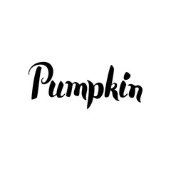 Pumpkin Black Calligraphy
