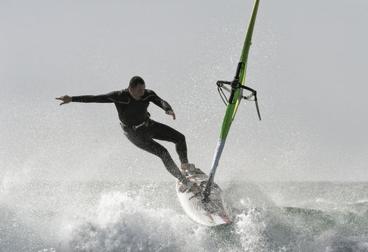 Windsurfing; Tarifa, Cadiz, Andalusia, Spain