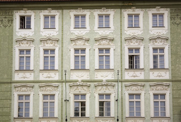 Old Building With Architectural Details; Prague, Czech Republic