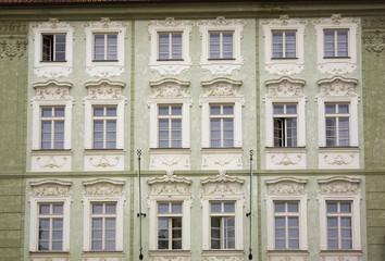 Old Building With Architectural Details; Prague, Czech Republic