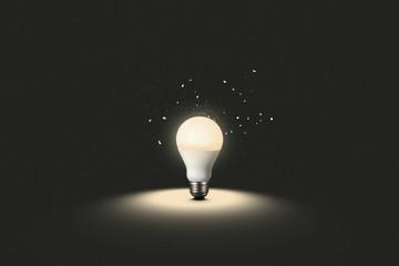 Glühbirne der Ideen