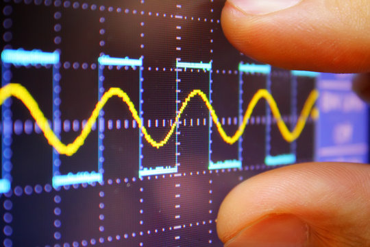 wave on oscilloscope